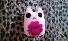 Pupazzo gatto Ti voglio bene mamma  kawaii di BarbaraCreazioni, €5.90