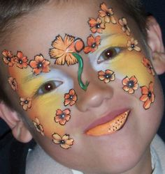 painted flowers for the face