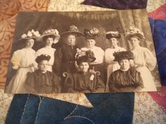 Nice Old Early 1900's Unposted RPPC Victorian Postcard Ladies With Fancy Hats