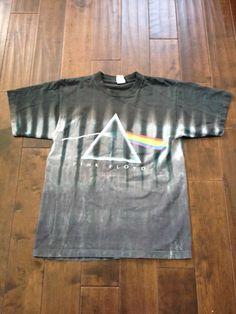 Rare Vintage Pink Floyd Dark Side Of The Moon Black Gray T-Shirt Size Medium