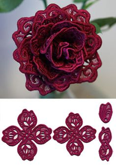 Rose in 3D (Lace) design (X13238) from www.Emblibrary.com