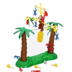 [$4.83] Family Fun Monkey Wire-walking Banana Drama Balance Game for Desktop Playing