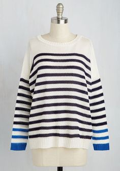 Bayou a Drink Sweater. When the pontoon tour docks in time for happy hour, you grab this ivory sweater and disembark for a fun night out. #white #modcloth