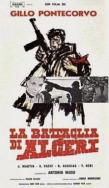 """""""La battaglia di Algeri; (The Battle of Algiers) 1966 war film based on occurrences during the Algerian War (1954–62) against the French Government in North Africa. Gillo Pontecorvo is the director."""