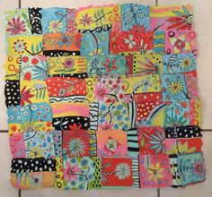 Whimsy at Work handmade paper quilt