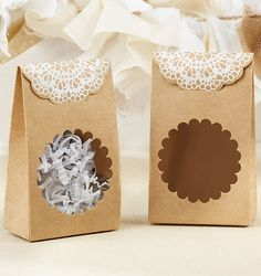 Rustic Favor Boxes Kraft Tent Style Wedding Bridal Shower Baby Shower Brown White Lace Candy Boxes Favors - Set of 12 - Bridal Shower Rustic, Bridal Shower Favors, Party Favors, Sweet Wedding Favors, Wedding Favor Boxes, Cheap Favors, Tent Wedding, Budget Wedding, Wedding Decor