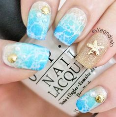 Pretty Nail Art Ideas for Summer – Spring Break: Beach Nails – Cool Easy DIY Nail Art and Nailart For Summer, For The Beach, With Designs And Colors Like Neon, Acrylic, French Nailart and Gel Ideas. These Are Step By… Continue Reading → Frensh Nails, Love Nails, Diy Nails, Nails 2016, Style Nails, Pretty Nail Art, Cute Nail Art, Tropical Nail Art, Colorful Nail