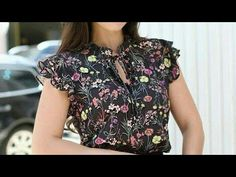 Top Videos, Dress Sewing Patterns, Sewing Clothes, Crochet Stitches, Kurti, Gota, Floral Tops, Couture, Formal