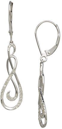 Lord & Taylor Diamond And 14K White Gold Drop Earrings on shopstyle.com
