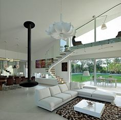 I really love this beautiful modern residence in sunny Osijek, Croatia, designed by Helena Alfirevic Arbutina. Design of the House intends to take over House Design, House, Modern Houses Interior, Home, Modern House, Luxury Homes, House Interior, Home Deco, Home Interior Design