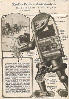Radio Police Automaton from 1924