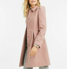 509def57f404 Oasis Pink Angelique Feminine Dolly Swing Dress Coat Tailored Jacket XS To  XL #Oasis #