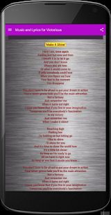 Here is the collection of Victorious cast song and the lyrics. Enjoy it. Picture Song, Victorious Cast, Fast Internet Connection, You Are Blessed, Android Apps, Google Play, At Least, Singing, Lyrics