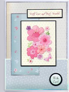 Hunkydory Flutterby Wishes anniversary card