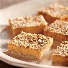 Eagle Brand® Pumpkin Cheesecake Bars Recipe- Recipes  <b>Recipe provided by Eagle Brand®.</b>
