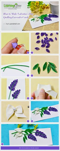 How to Make Valentine's Day Quilling Lavender Cards                                                                                                                                                                                 More