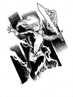 Magik by Jim Towe, in Will Henderson's Illyana Rasputin (Magik) of the New Mutants and X-Men Comic Art Gallery Room Magik Marvel, Marvel Comics, The New Mutants, Comic Movies, Comic Books, Western Comics, Marvel Drawings, Superhero Design, Marvel Comic Character