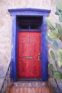 Tucson Arizona Red Door Photograph By Gregory Dyer   Tucson Arizona Red Door  Fine Art Prints And Posters For Sale | Tucson | Pinterest | Tucson Arizona  And ...