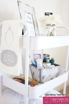 DIY guest cart idea, for all that family that is coming for christmas!
