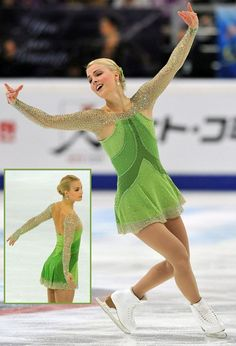 Kiira Korpi in another stunning dress, skating to The Girl with the Flaxen Hair at the 2012 Cup of China and 2012 Cup of Russia.