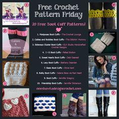 20 Free Boot Cuff Crochet Patterns! Oombawka Design Crochet