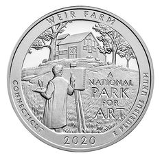 America the Beautiful - Weir Farm National Park for Art 5 Ounce Silver Silver Coins For Sale, Silver Eagle Coins, Gold And Silver Coins, Silver Eagles, Silver Bullion, Bullion Coins, Rare Coins Worth Money, Silver Dimes, Coin Collecting