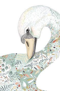 Decor Swan  Art Print / Wall Décor / Wall por GabriellaBarouchArt
