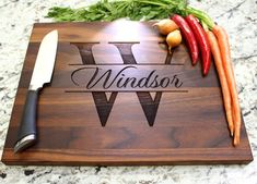 A personalized cutting board makes a gift that is both unique and functional. Add your personal touch by choosing a design that is appropriate for the person or the occasion. Please be aware that every cutting board is unique and the color of wood may vary from the picture! Our