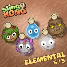 My kong (elemental 5/5) on game Sling Kong 💖 #SlingKong