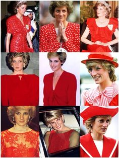 Princess Diana in Red.