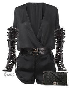 Untitled #3215 by breannamules on Polyvore featuring polyvore fashion style Giuseppe Zanotti Chanel Givenchy clothing