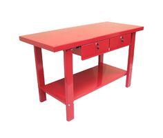 2 Drawer Work Station in Red