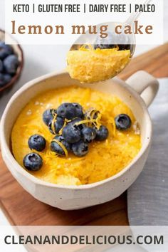 This keto mug cake recipe is made in the microwave and so incredibly easy! Moist and gluten free for an amazing keto treat. #cleananddelicious #lemon #mug #cake #recipe #microwave Lemon Mug Cake, Vanilla Mug Cakes, Dairy Free, Gluten Free, My Dairy, Clean And Delicious, Healthy Baking, Healthy Dessert Recipes, Cake Recipes