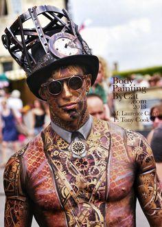 Victorian Magic Man #bodypaint #SteamPUNK ☮k☮