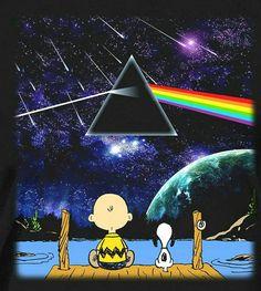 Charlie Brown and Snoopy enjoying Pink Floyd. Pink Floyd Dark Side, Snoopy Love, Snoopy And Woodstock, Arte Pink Floyd, Charlie Brown And Snoopy, Wow Art, Peanuts Gang, Native American Indians, Urban Art