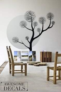 Pine Tree Decal – Removable Decal – Home Wall Decals – Large Tree Decal – Custom Decals - Vinyl Murals  Every home interior is special and we - Awesome Decals - will help you to find the best solution for your home.  Here at Awesome Decals we are creative, but also we never forget to provide top-quality wall decals with great care and attention to ensure the highest quality Home Decoration products.  To see more of awesome wall decals - awesomedecals.etsy.com ------------------------ DETAILS…