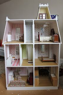 Cherry Cottage Dollhouse Minis: Alison Jr Dollhouse Pretty Much All Done.