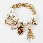 Pearl Heart Leopard Bracelet – EUR € 4.59