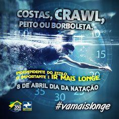 Parabéns e muito obrigado aos nadadores brasileiros que nos enchem de orgulho! #vamaislonge