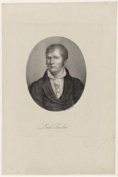 Louis Spohr [born Ludewig Spohr] (1784-1859), lithograph (1821), by Heinrich Winter (1788-1825), published in Portraite der berühmtesten Compositeurs der Tonkunst, plate 86.