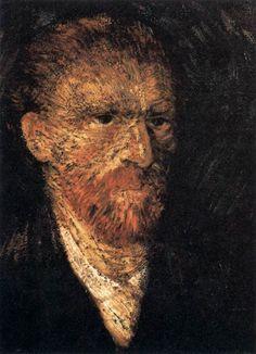 Self-Portrait. Van Gogh. Winter 1887-1888. Paris. Oil on canvas. 46 x 38 cm. Österreichische Galerie Belvedere. Vienna.