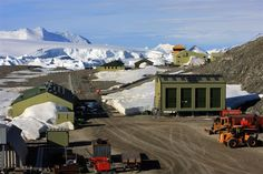 Rothera station from the wharf. Antarctica