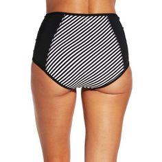 A timeless style, the CALIA™ by Carrie Underwood Ruched High Waist Bikini Bottoms are everything you need this swim season. Fully lined and a full coverage back, this feminine swim bottom features an all over striped print. Ruching detail along the front seams enhances the simple silhouette leaving you looking good and feeling great. Maximize comfort without sacrificing style in the CALIA™ High Waist Bikini Bottoms.