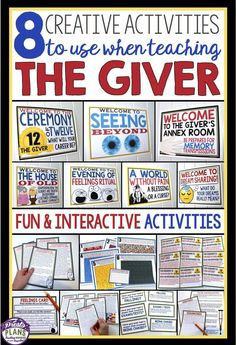Teaching The Giver? Use these 8 engaging activities to allow your students to empathize with the characters!