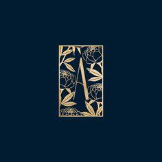 Feminine logo design luxury branding aromatherapy branding gold foil logo sub mark brand identity peony logo design floral branding floral logo essential oil branding Art Deco inspired logo botanical logo Luxury Logo Design, Graphisches Design, Design Blog, Icon Design, Luxury Branding, Brand Logo Design, Art Deco Design, Flat Design, Design Ideas
