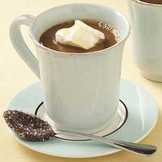 Toffee-Flavored Coffee Recipe -With its chocolate toffee flavor, this soothing java drink from our home economists makes mornings pleasantly perk along. Treat yourself to a cup in the afternoon as a special pick-me-up.