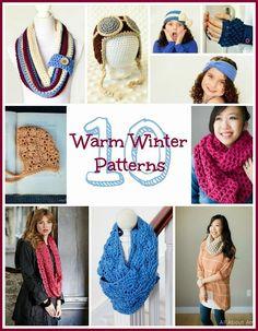 10 Free Crochet Patterns For A Warm Winter - Hopeful Honey | Craft, Crochet, Create