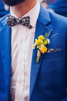 Boutonnière de marié printanière jaune - pâquerettes - Floriane Caux Photographe de Mariage - Toulouse, France, Worldwide: {Best Of 2015} Une année de mariages en images...