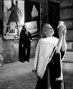 'La Dolce Vita', Marcello Mastroianni and Anita Ekberg.