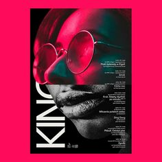 Kino #104 #poster #collage #collageart #kino #posterdesign #design #color #neon #printmaking #print #modern #typography #typo #face #woman